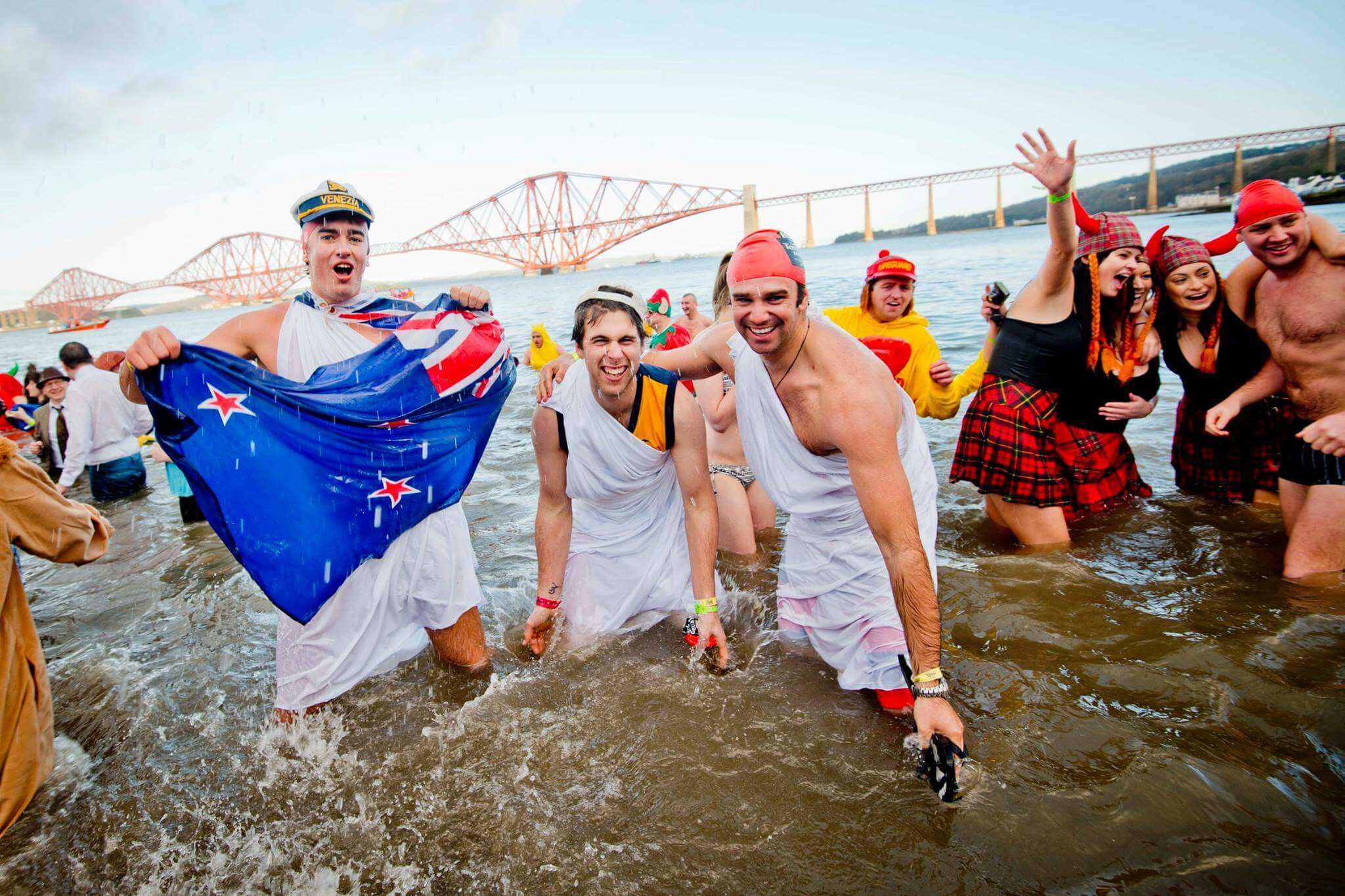 Ring in the New Year with a Splash at the Annual Loony Dook!