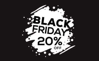  Black Friday 2017 is TOMORROW: Get 20% Off! 